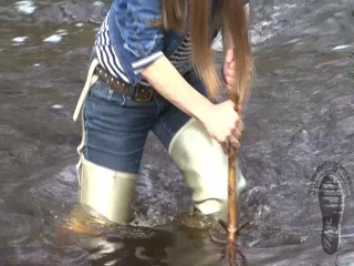 Fine wading on the wild river
