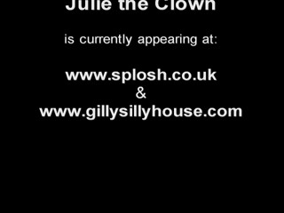 Julie shows how to be a clown