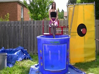 Sarah Dunked In a Purple Skirt & Black Tube Top Preview
