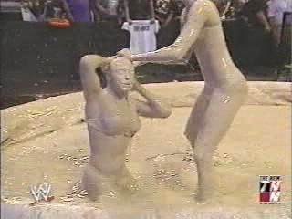 Trish Stratus and Stacy Keibler Mud match from 2003