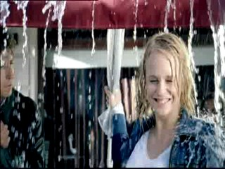 TV Ad - Mirjam Weichselbraun wet in the rain