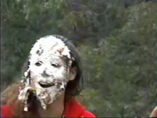 Girl gets pied