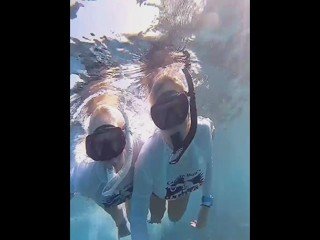 Stephanie &Margo underwater