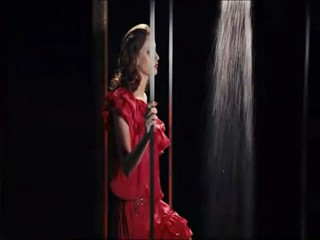H & M commercial - red mini-dress