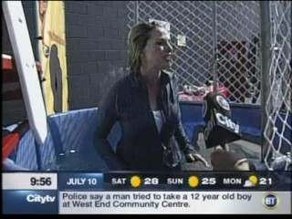 Breakfast TV - dunk tank