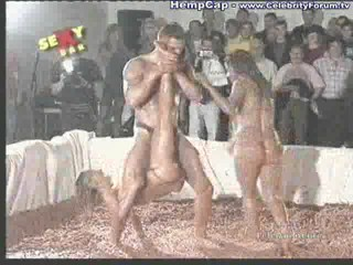 Wrestle naked mud wrestling