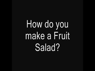 Fruit salad promo