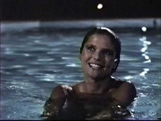 Christy Brinkley in the pool